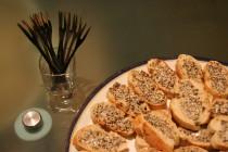 Toasts aux beurre de truffe